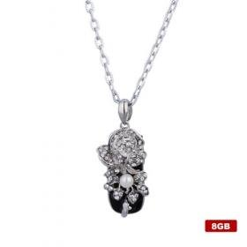 Flower with pearl shaped USB2.0 Flash Drive Necklace (8GB)