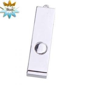 Metallic Mini USB 2.0 Jump/Flash Drive Keychain (8GB)