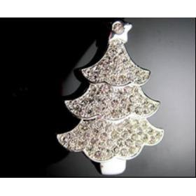 Christmas Tree-Silver USB Drive (8G)