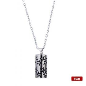 Stainless Steel Crystal USB 2.0 Flash drive Necklace (8GB)