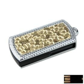 Bling Square Jewelry USB Flash Drive(8GB)