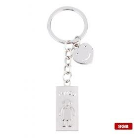 Stainless Steel USB2.0 Flash Drive Keychain (8GB)