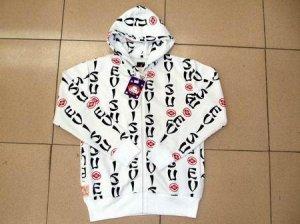 Evisu Black, white, and red hoodie