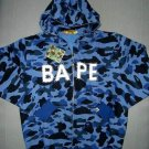 BAPE Hoodie: Blue Camo