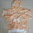 BAPE  hoodie: orange and white