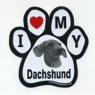 """I Love My Dachshund"" Magnet"