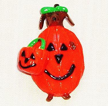 Happy Halloweiner Dachshund Magnet