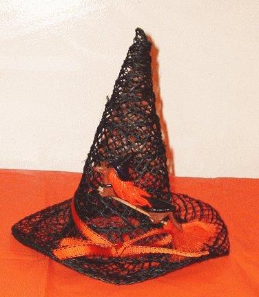 """Decorative """"Happy Halloweiner"""" Dachshund Witch Hat"""