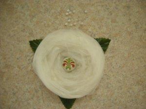 Tulle folded rose