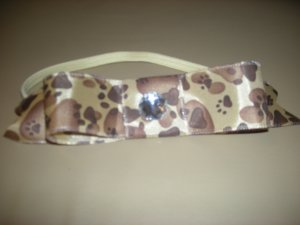 Animal print bow elastic headband