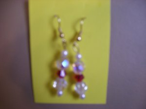 Ab clear cristal beads earrings