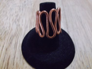 Coper thick metal ring sizeable