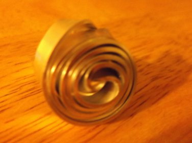 Swirl flat metal silver color ring size 8 and 9