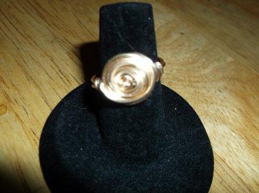 Swirl ring gold metal 6.00