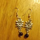 Flower silver metal sm. earrings