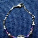 Wire Wrapped Glass Bead Bracelet