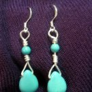 Turquoise Ball and Drop Earrings