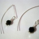 Black Swarovski Crystal on French Ear Hooks