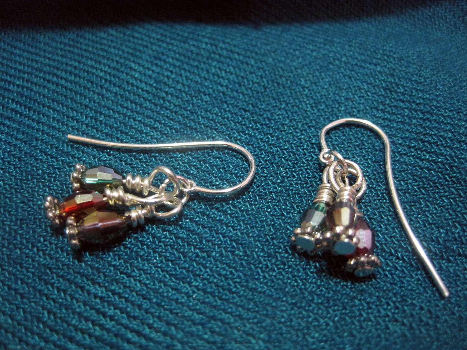 3 Colour Swarovki Crystals on French Ear Hook