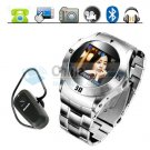 Bracelet MQ006 Stylish Stainless Steel Watch Phone Quadband Bluetooth