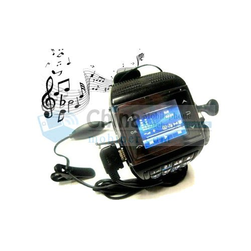 VE77 Dual SIM Quad Band FM Radio Bluetooth Touch Screen Watch Phone