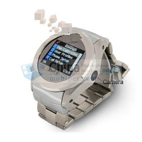 W360 Single Card Metal Cover Quad Band FM Radio Bluetooth Watch Phone