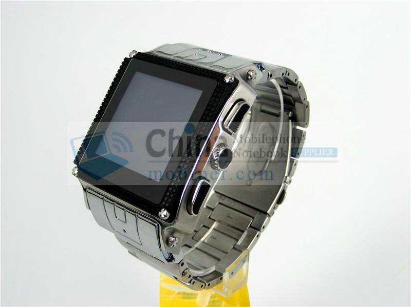 W818 waterproof java watch phones Stainless Steel housing