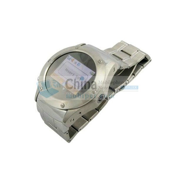 W968 Stainless Steel Cell Phone Watch Camera Bluetooth