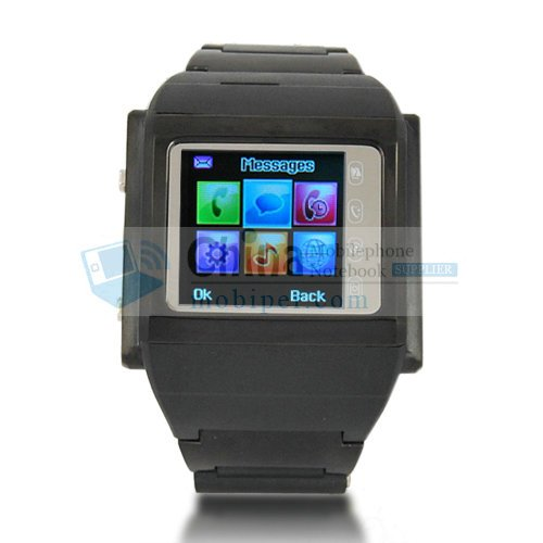 Watch Phone W600T Tri-band Metal House Camera and TF Card