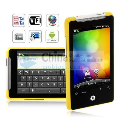 """A6380 Android 2.2 Wi-Fi A-GPS 3.1"""" Capacitive Touch Screen Quad Band Dual SIM Smart Phones"""