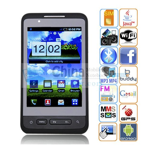 F9191 Android 2.2 3.8 Inch Capacitive Touch Screen Quad Band TV Smart Phone with Wi-Fi GPS 3G