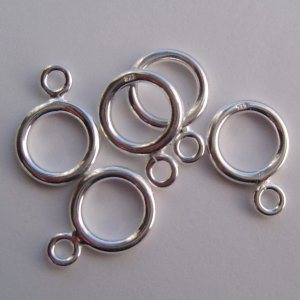12mm sterling silver hoop clasps