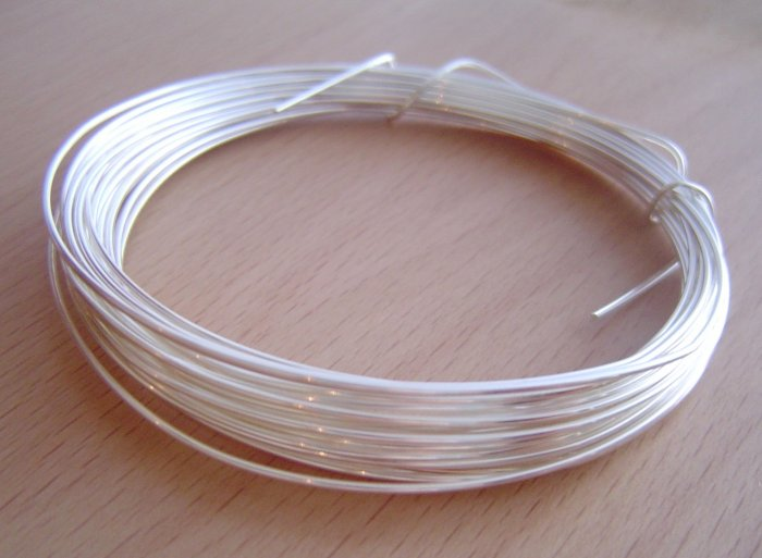 silver plated jewelry wire 26G (0.4mm)