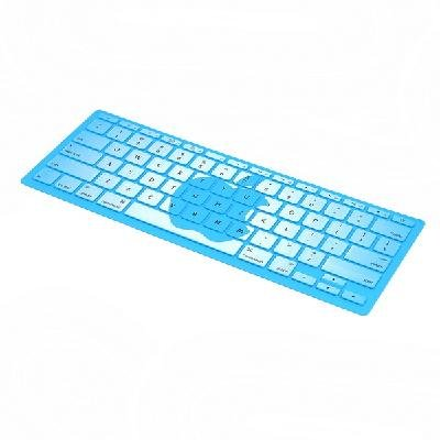 """Silicone Keyboard Cover Skin for 11.6"""" Apple Laptop Blue"""