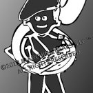 BERET - Marching Band SOUSAPHONE Person Decal - MALE