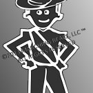 AUSSIE - Marching Band / Drum Corps Person Decal - MALE