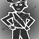 AUSSIE - Marching Band / Drum Corps Person Decal - FEMALE