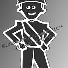 HELMET - Marching Band / Drum Corps Person Decal - MALE