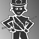 SHAKO - Marching Band / Drum Corps Person Decal - FEMALE