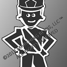 SHAKO - Marching Band / Drum Corps Person Decal - MALE