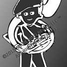 Brass - SOUSAPHONE-TUBA Decal - FEMALE