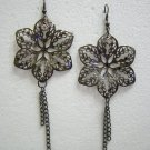 Brand New Alloy Floral/Flower Dangle Hook Earrings