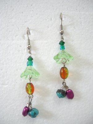 Brand New Fashionable Multi-Color Beads Hook Dangle Earrings