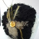 Ladies Brown Knit With Crystal & Feather Hair Hoop/Headband