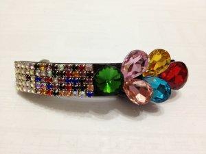 Ladies Multi-Color Crystal Floral Hair Barrette/Pin/Clip