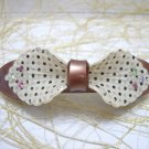 Multi-Color Polka/Dots Print with Crystal Bow Shape Hair Barrette/Clip/Pin