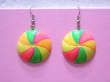 Brand New Colorful Multi-color Ball Shape Dangle Earrings
