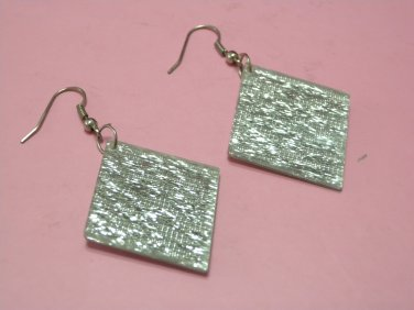 Brand New Fashionable Silver Color Rhombus Shape Dangle Hook Earrings