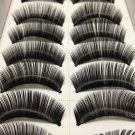 10 Pairs Natural False Eyelashes, Long Thick Makeup Eyelashes #002