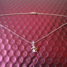 Brand New Silver Dolphine with Crystal Pendant Beads Chain Necklace